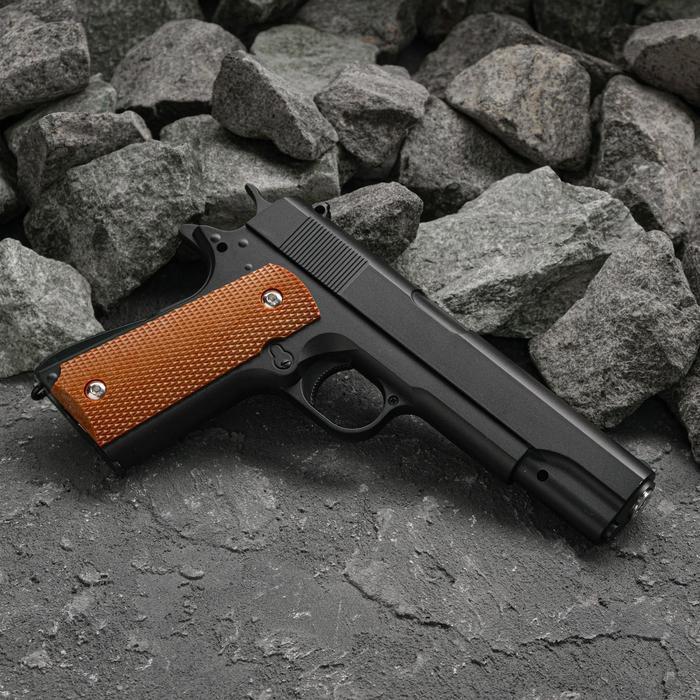 Пистолет пружинный Galaxy Colt 1911 G.13, чёрный