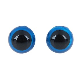 Глаза винтовые с заглушками, полупрозрачные, набор 4 шт, цвет голубой, размер 1 шт: 1,3×1,3 см Ош