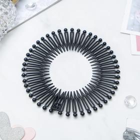 Гребень-ободок для волос 'Классика' чёрный Ош