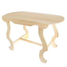 Стол с фигурными ножками 140×63×73 см Ош
