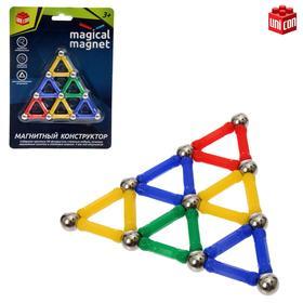 Конструктор магнитный «Треугольник», 28 деталей, цвета МИКС Ош