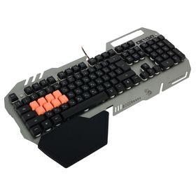Клавиатура A4Tech Bloody B418, игровая, проводная, подсветка, 108 клавиши, USB, серая