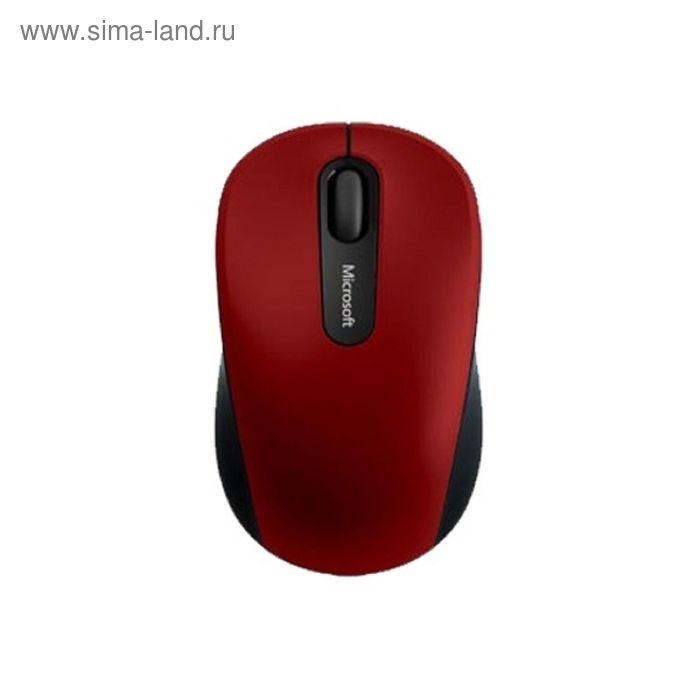 Мышь Microsoft Mobile 3600, беспроводная, оптическая, 1000 dpi, красно-черная