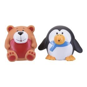 Набор игрушек для ванны «Зоопарк», 2 шт.