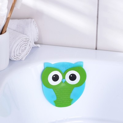 Мини-коврик для ванны Доляна «Совушка», 11×11,5 см - Фото 1