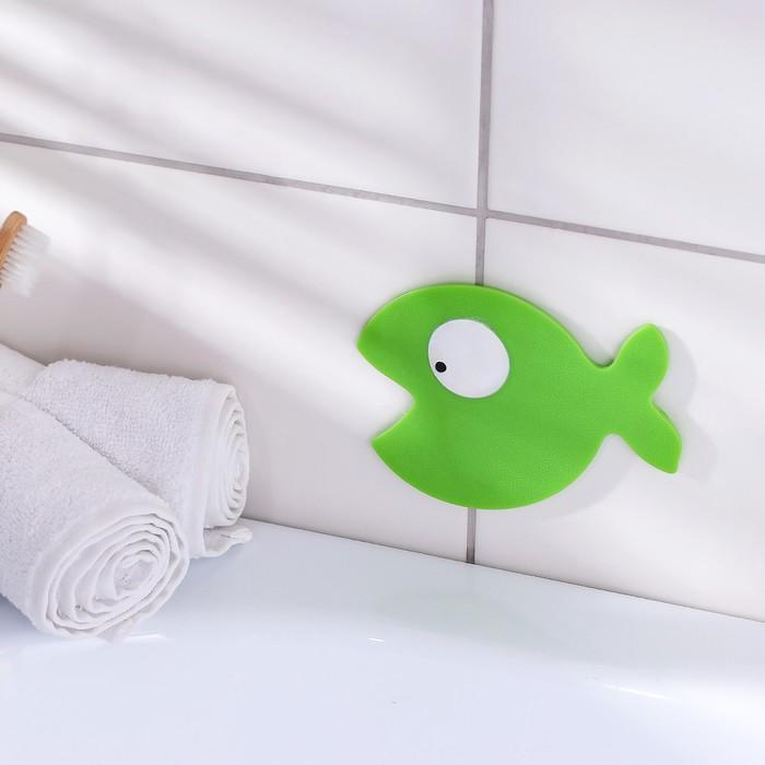 Мини-коврик для ванны «Кит», 10×12,5 см, цвет МИКС