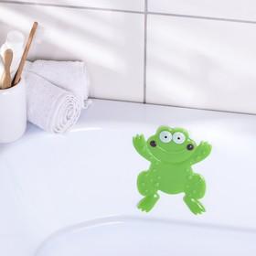 Мини-коврик для ванны Доляна «Лягушонок», 11,5×14 см, цвет зелёный Ош