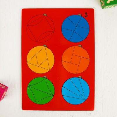 Головоломка логическая «Сложи круг №3», 30 × 21 см, по методике Никитина, МИКС