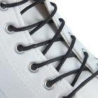 Шнурки для обуви Braus, круглые, с пропиткой, d=2,5 мм, 45 см, цвет чёрный