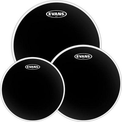 "Набор пластика для том барабана Evans ETP-CHR-F Black Chrome Fusion 10""/12""/14"""