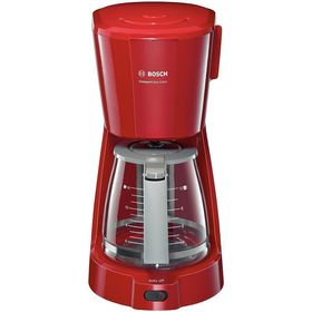 Кофеварка Bosch TKA 3A034, капельная, 1100 Вт, 1.25 л, красная