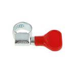 Хомут червячный с ключом MGF, диаметр 8-12 мм, оцинкованный