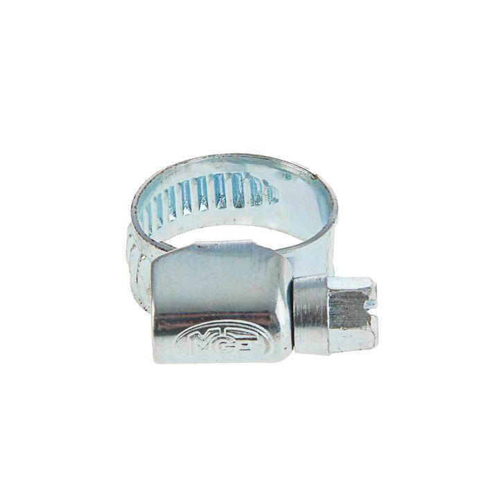 Хомут червячный MGF, диаметр 10-16 мм, ширина ленты 9 мм, оцинкованный