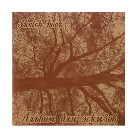Альбом для эскизов 21 х 21см, 40 листов «Дерево», 70 г/м²