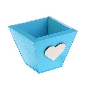 Ящик реечный синее, мини, 11 х 11 х 9,5 см