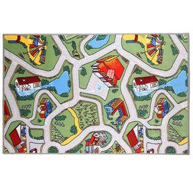 Палас велюровый «Лунапарк», размер 100х150 см, цвет зелёный, полиамид Ош