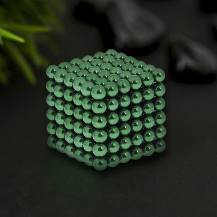 """Антистресс магнит """"Неокуб"""" 216 шариков d=0,5 см (зелёный)"""