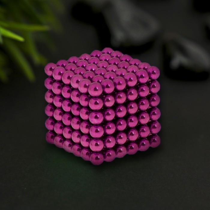 """Антистресс магнит """"Неокуб"""" 216 шариков d=0,5 см (малиновый)"""