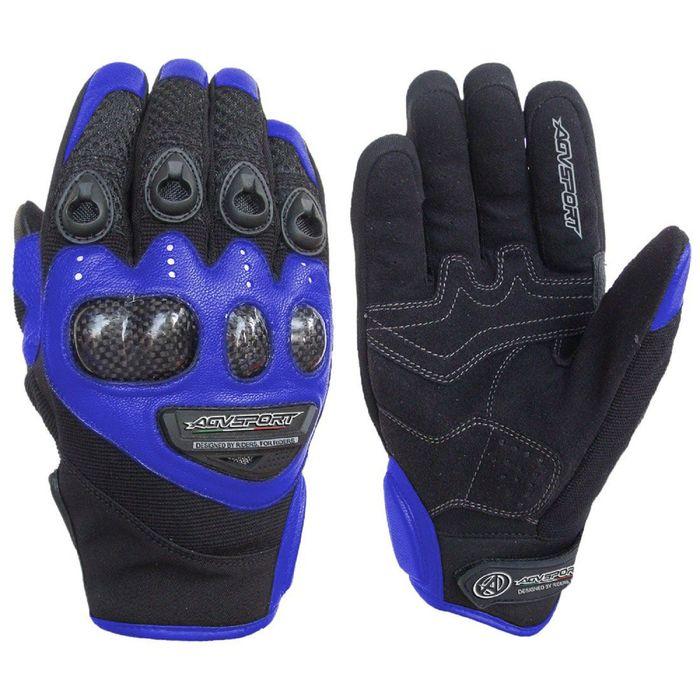Кожаные перчатки Jet синий, XS