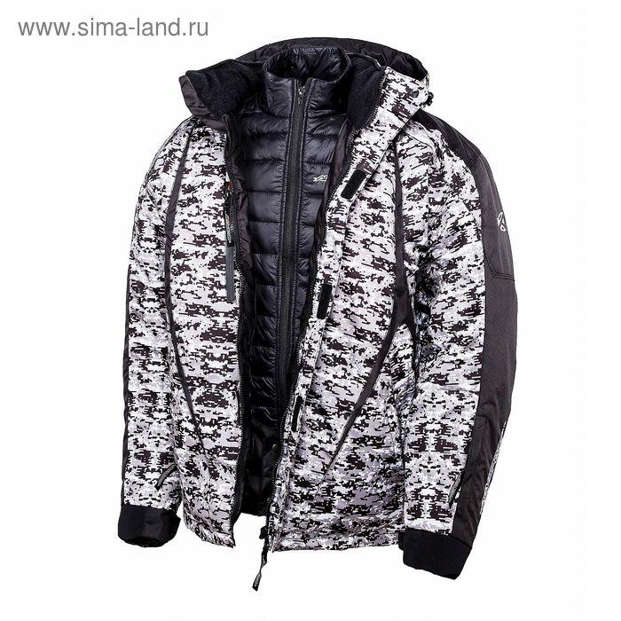 Снегоходная куртка PIXEL, размер S, серо-чёрная