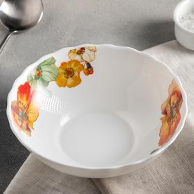 Тарелка суповая Доляна «Радужные маки», 600 мл, 18×5 см