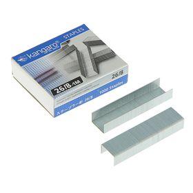 Скобы для степлера №26/8 Kangaro, высококачественная сталь, 1000 штук