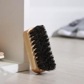 Щётка для обуви Тарри, 9×3,5 см, конский волос Ош