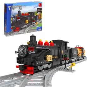 Конструктор «Классический паровоз», 586 деталей