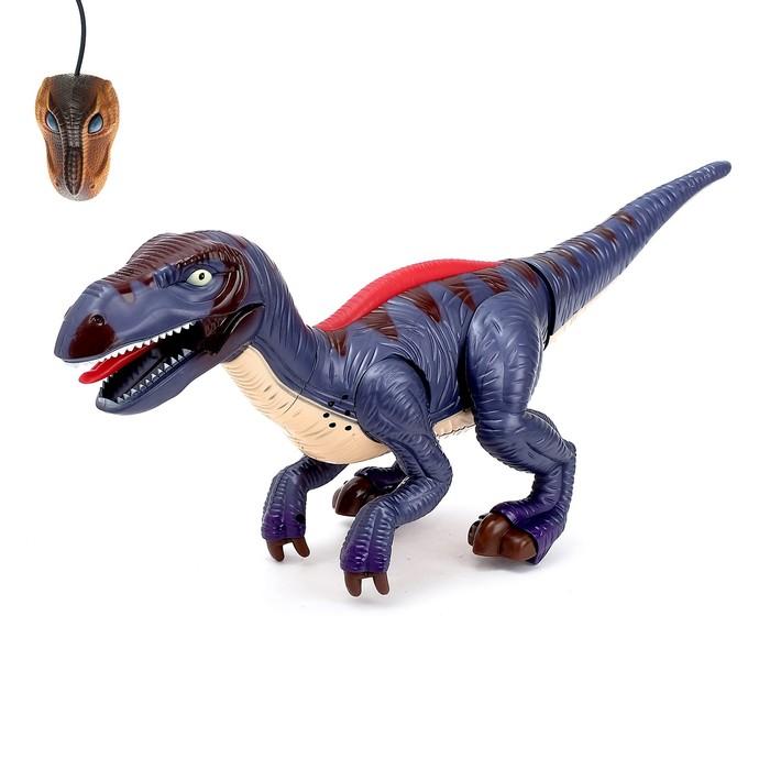 """Динозавр радиоуправляемый """"Рекс"""", световые и звуковые эффекты, работает от батареек"""