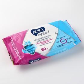 Влажные салфетки «Aura Tropic Cocktail» c антибактериальным эффектом, 60 шт