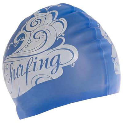Шапочка для плавания, взрослая, силикон, цвет голубой