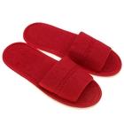 Тапочки махровые открытые, цвет бордо, размер 39-41