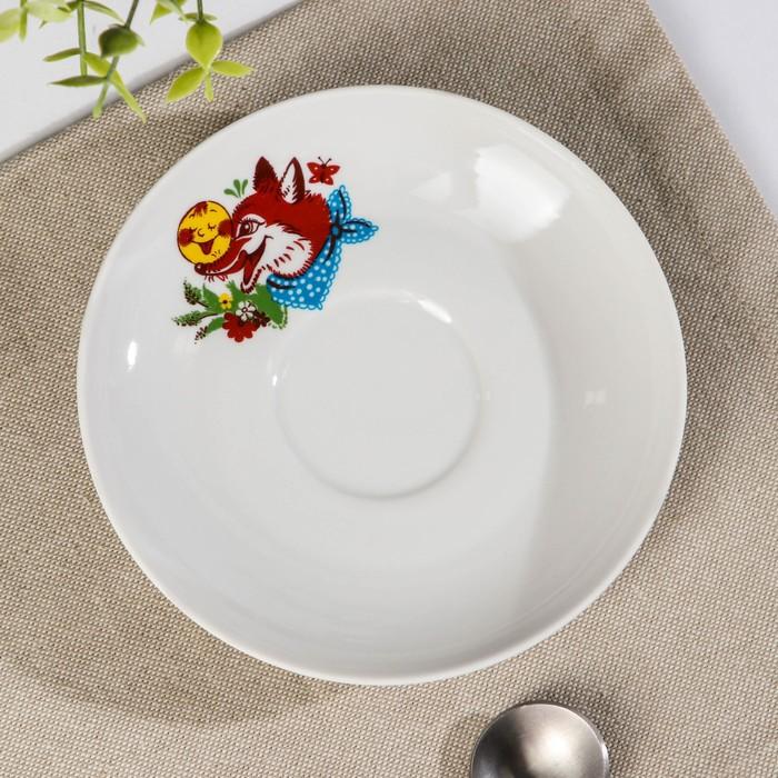 Блюдце чайное «Веселый Колобок», d=14 см