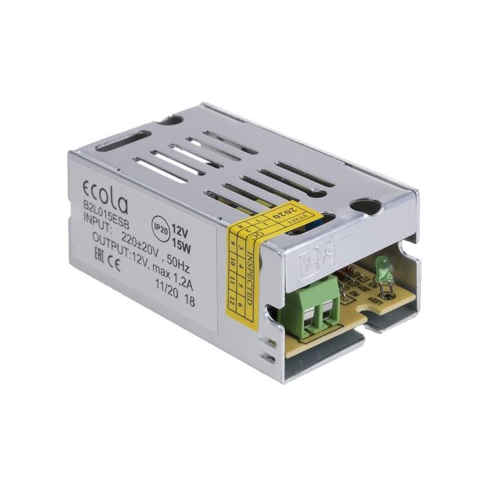 Блок питания для светодиодной ленты Ecola, 15 Вт, 220-12 В, IP20
