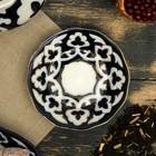 Тарелка круглая «Пахта в золоте», 12.5 см, белая - Фото 2