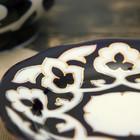 Тарелка круглая «Пахта в золоте», 12.5 см, белая - Фото 3