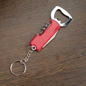 Нож многофункциональный 3в1, рукоять красная Ош