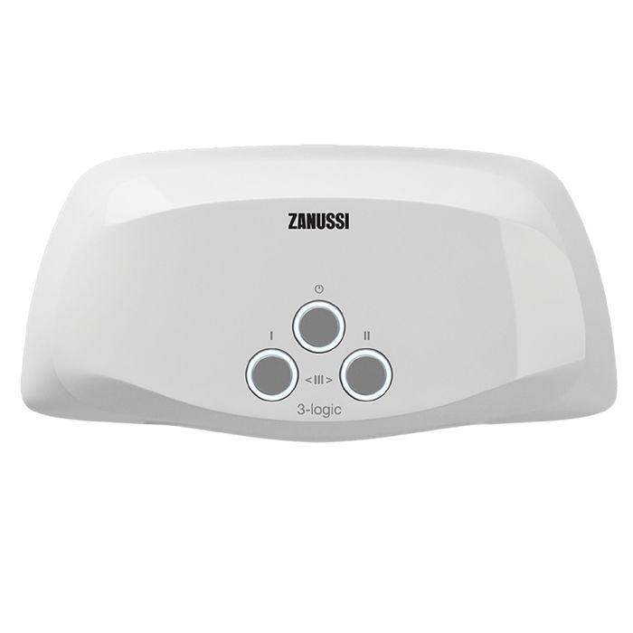 Водонагреватель Zanussi 3-logic 3,5 TS - (душ+кран), проточный, 3.5 кВт, 3.7 л/мин