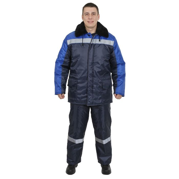"""Костюм """"Регион 37"""", утеплённый, размер 52-54, рост 182-188 см, цвет сине-васильковый"""