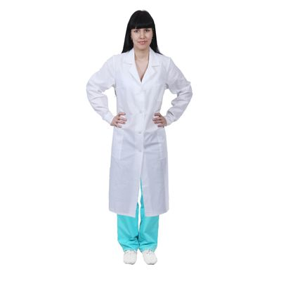 Халат женский медицинский, ГОСТ, размер 52-54, рост 170-176 см, цвет белый