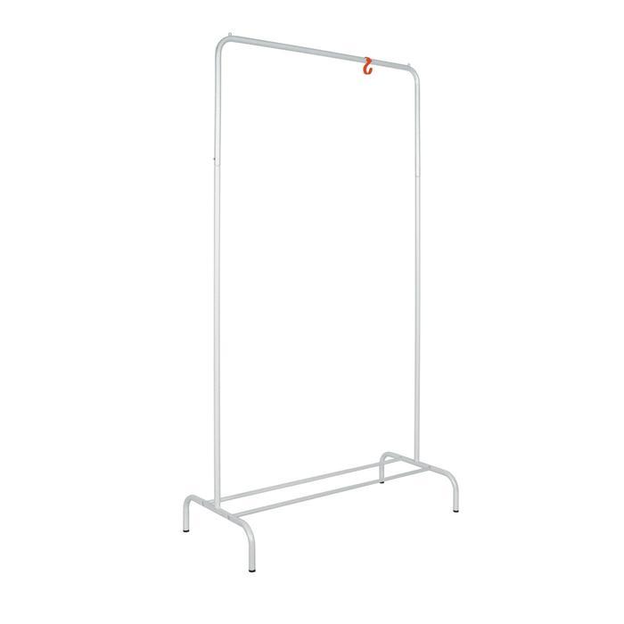 Вешалка гардеробная «Радуга», 82×39×150 см, цвет белое серебро