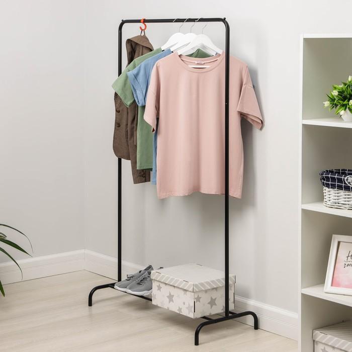 Вешалка гардеробная «Радуга», 82×39×150 см, цвет чёрный