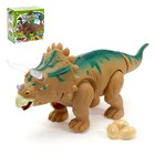 Динозавр «Трицератопс», работает от батареек, откладывает яйца, световые и звуковые эффекты, МИКС