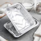 Набор форм для выпечки из фольги Доляна, 960 мл, 2 шт, цвет серебристый - Фото 1