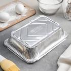 Набор форм для выпечки из фольги Доляна, 960 мл, 2 шт, цвет серебристый - Фото 4