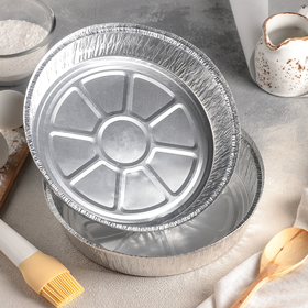 Набор форм для выпечки из фольги Доляна, 1,45 л, 2 шт, цвет серебристый