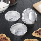 Набор форм для выпечки из фольги Доляна, 135 мл, 6 шт, цвет серебристый - Фото 1