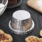 Набор форм для выпечки из фольги Доляна, 135 мл, 6 шт, цвет серебристый - Фото 2