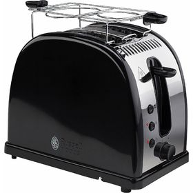 Тостер Russell Hobbs 21293-56, 1300 Вт, 6 режимов прожарки, 2 тоста, разморозка, черный