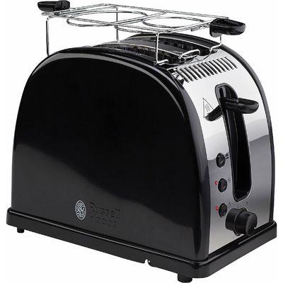 Тостер Russell Hobbs 21293-56, 1300 Вт, 6 режимов прожарки, 2 тоста, разморозка, черный - Фото 1